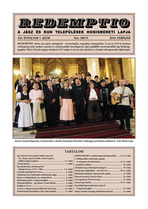 Redemptio címlapja
